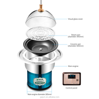 Superior luxury commercial intelligent lifting electric food steamer steam cooker