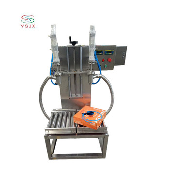semi automatic liquid barrels cans weighing filling line/oil bucket filler machine for sale
