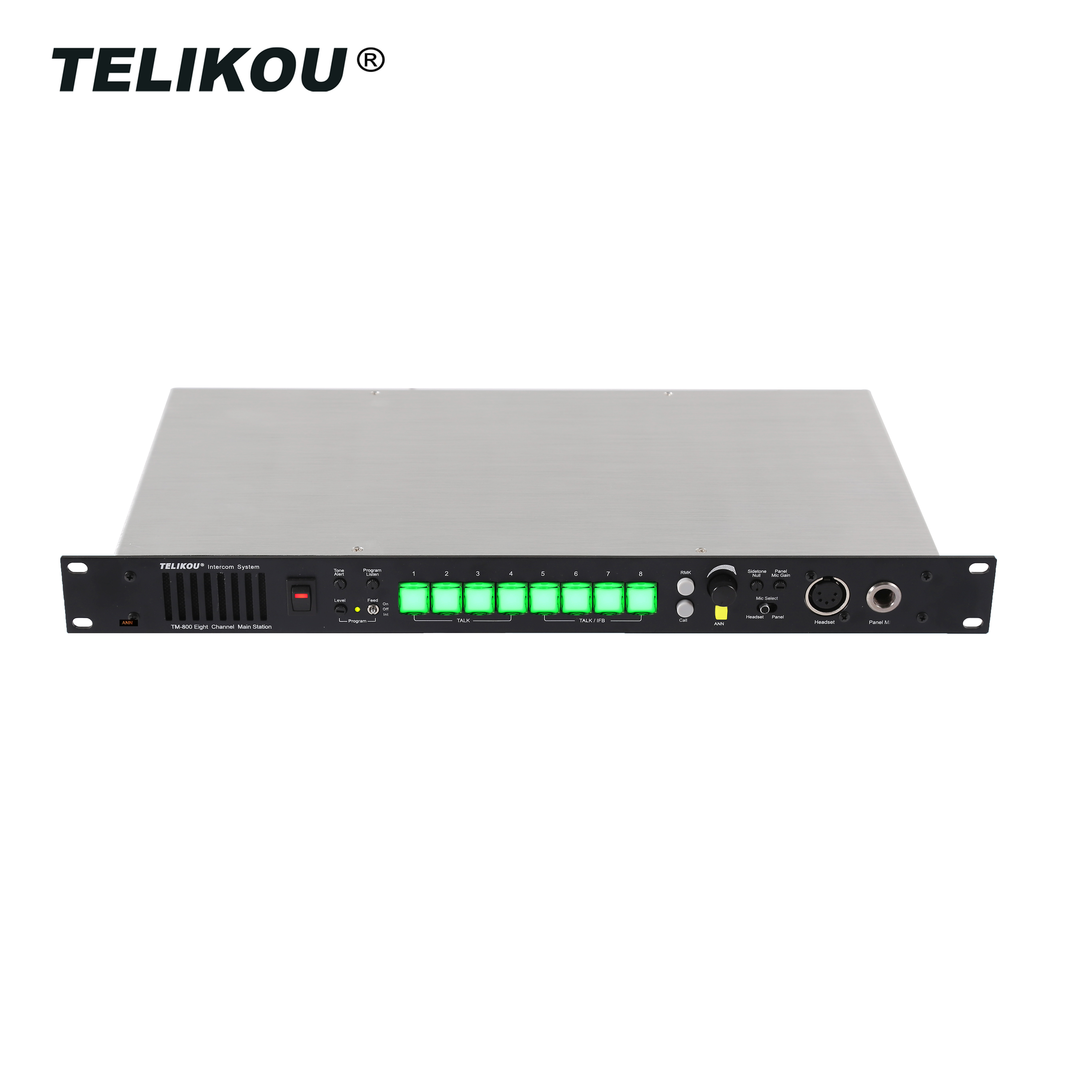 TELIKOU Professionele Intercom Basisstation voor Professionele Audio, Video Verlichting Geluid, Podium, Theater