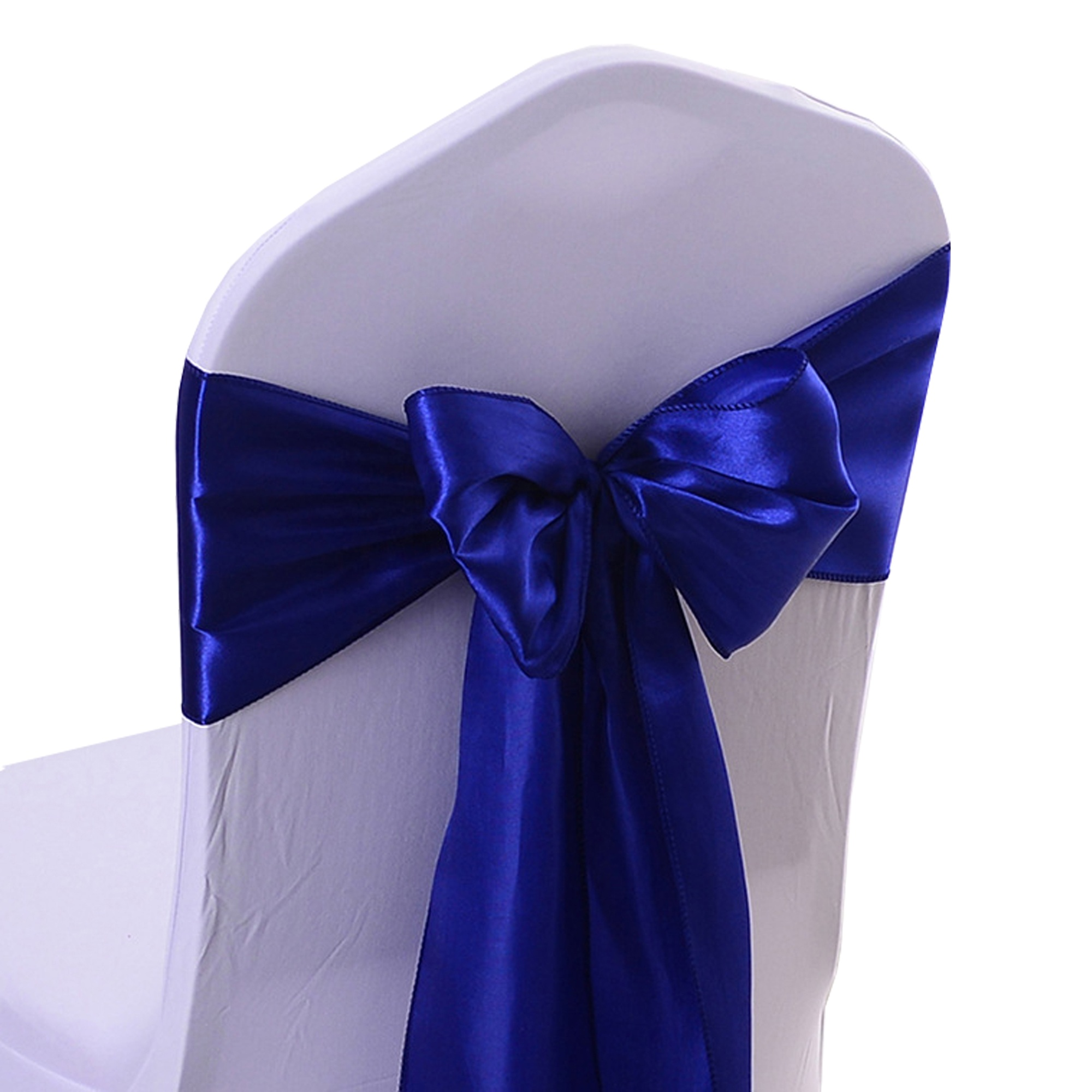 Cheap wedding copertura della sedia decorazioni royal blue satin chair telai