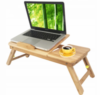 Wholesale new design multifunctional portable adjustable bamboo wooden folding laptop table computer desk for study on bed