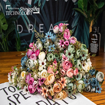 Shininglife Brand Cheap price china suppliers home decoration silk flowers artificial