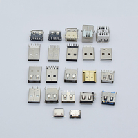 10 years factory free sample Mini micro 180 degree vertical usb connector factory usb jack connector
