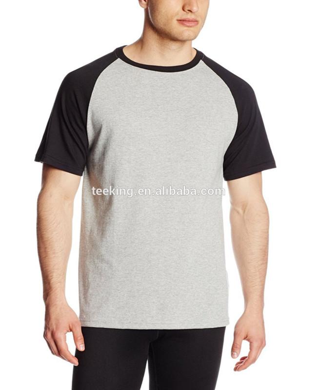 Pro Mens Fitness Sportswear Short Sleeve Muscle Fit Contrast Raglan T-Shirt SP
