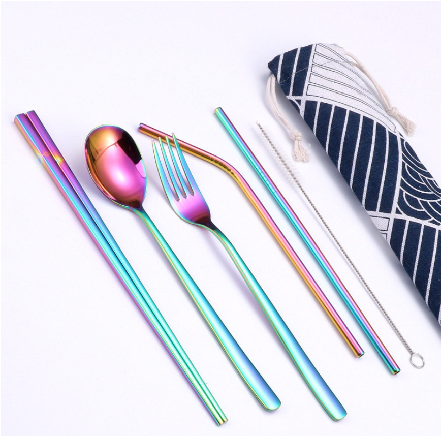 Amazon Top Seller 2019 Stainless Steel Portable Cultery Straw Set фото