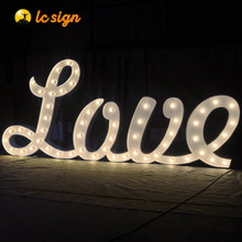 Light Up Sign LED Marquee Stainless Steel English Alphabet Lights Letters