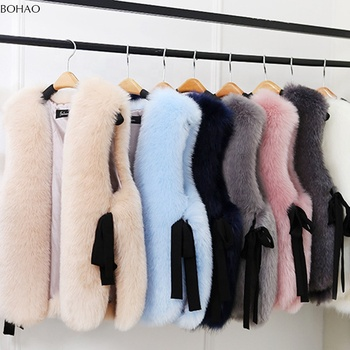 Fashion New Style Cheap Faux Fur Vest Soft Rabbit Fur Vest