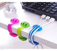 Silicone Cable Winder Earphone Cable Organizer Desktop USB Wire Storage Charger Cable