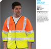 latest roadway hi vis reflective safety vest with waterproof reflective tape