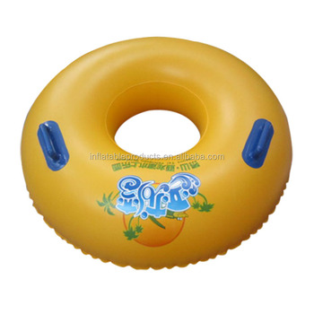 Factory custom logo inflatable single water slide tube water park tube river tube