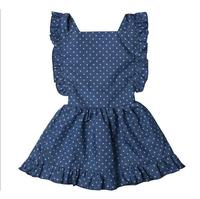Polka Dots Kids Baby Girl Children Icing Ruffled Dress Clothes Girls Dress Names With Pictures