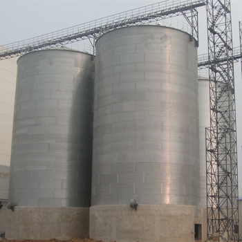2019  high quality 3500ton galvanized corrugated plate steel grain silo for sale