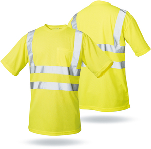 High Visibility OEM Long Sleeve Reflective road safety cheap T Shirt