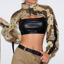 Neue ankunft mode camouflage <span class=keywords><strong>frauen</strong></span> sexy crop tops