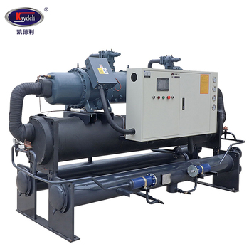 Water cooled screw chiller price 500 ton two compressor