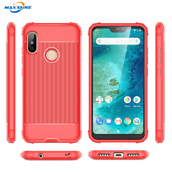 Maxshine Cube Soft TPU Slim Case Luxury Protection Back Cover For Redmi 6 Pro
