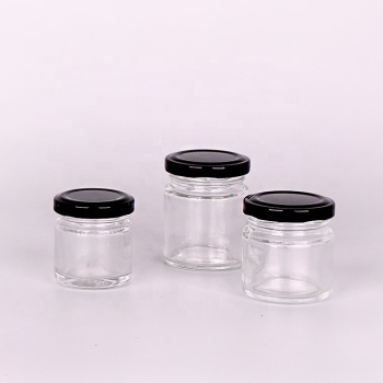 30ml 35ml 60ml 83ml glass honey jam jar with metal lid food storage
