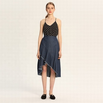 closer at high fashion cheaper De Diseño De Moda Falda De Denim Con Cremallera Larga Falda Vaquera - Buy  Falda Larga,Falda Vaquera,Falda Larga De Mujer Product on Alibaba.com