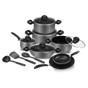 Aluminum Ceramic Coating Modern Dinnerware Cookware Set