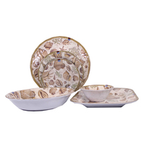 China manufacturer plastic dinnerware buffet plate shell seafood melamine dinner set