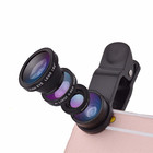 Shenzhen Universal Clip 3 in 1 Wide Angle Macro Fisheye Mobile Phone Camera Lens for Iphone 6/plus lens camera