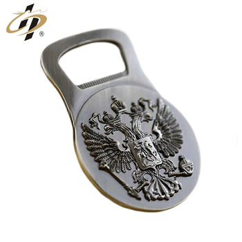 Cheap personalized 3d custom beer metal bottle opener with custom logo