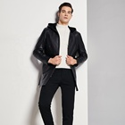 Various Styles Casual Long Men Bomber Leather Jacket