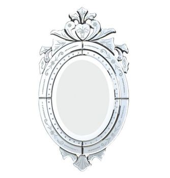 Venetian etching flower cheap decorative mirrors