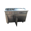 thai fry ice pan fried ice cream/roll ice cream machine 1+6 used in mobile food cart truck vending machine