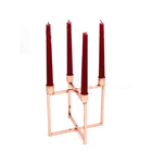 CH-31748 Folded Design Wedding Table Copper Or Golden Plated Color Candle Holder Stand