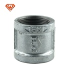 Galvanized malleable cast iron socket banded coupling