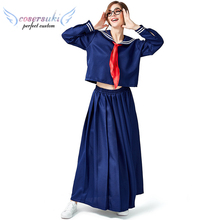 2019 nuovo a maniche lunghe navy costume collegio vento <span class=keywords><strong>sciarpa</strong></span> rossa per nascondere blu Giapponese sailor costume
