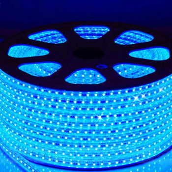 High Voltage 100M Per Roll SMD 3528 Blue Color 220V Christmas LED Strip Light Outdoor Use
