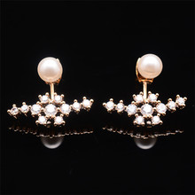 BLJSE0418 새 Collection Natural 펄 와 14 <span class=keywords><strong>K</strong></span> 스펀 금 귀 Stud 100% 제 Earring