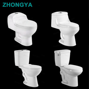 South America Cheap price siphonic one piece/two piece close couple toilet 300mm rough in wc toilet chinese supplier