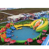 HI Commercial outdoor dinosaur inflatable water park with water slde and pool for kids and adults