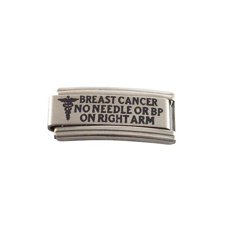 Find A Cure Awareness 9mm Italian Charm Shiny Stainless Steel Starter Bracelet