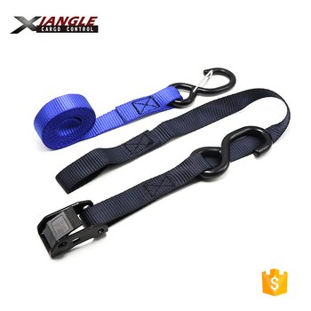 "1"" x6ft or 12ft 1200lbs Best Motorcycle ATV Cam buckle Locking Tie Down Straps Soft Loops with S hooks"