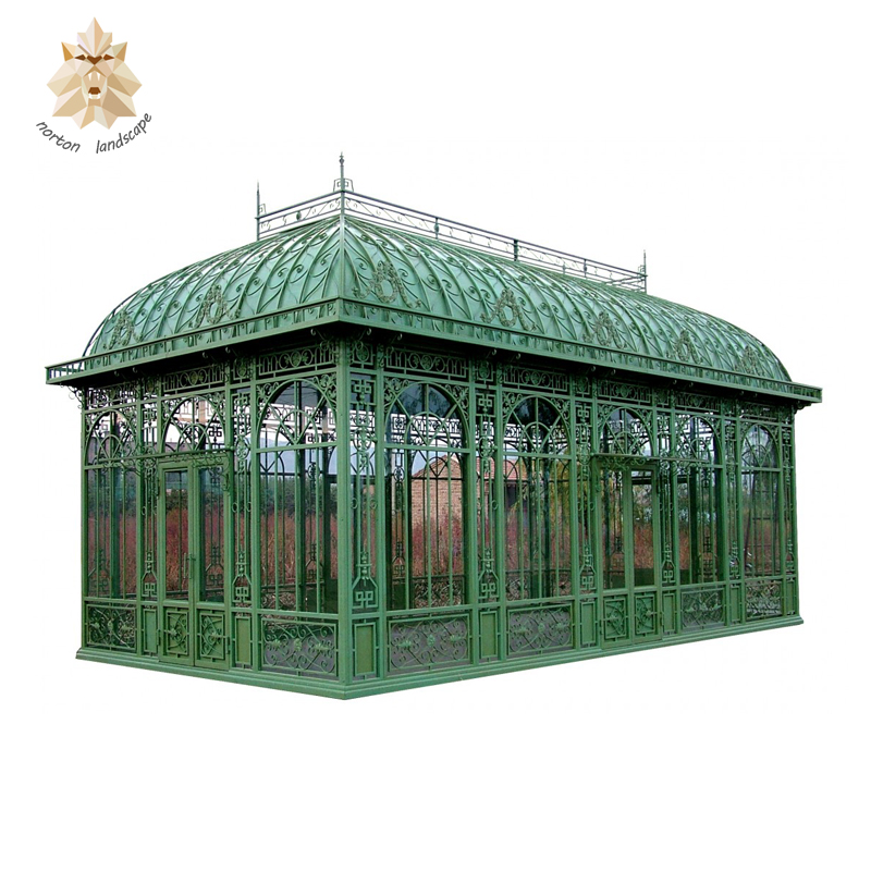 Popular design large antique metal large outdoor garden wedding used ornamental iron gazebo for sale