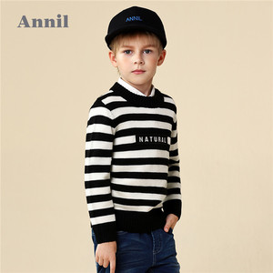 Annil Children Clothes Bulk Wholesale Kids Wool Striped Sweater Design For Boy