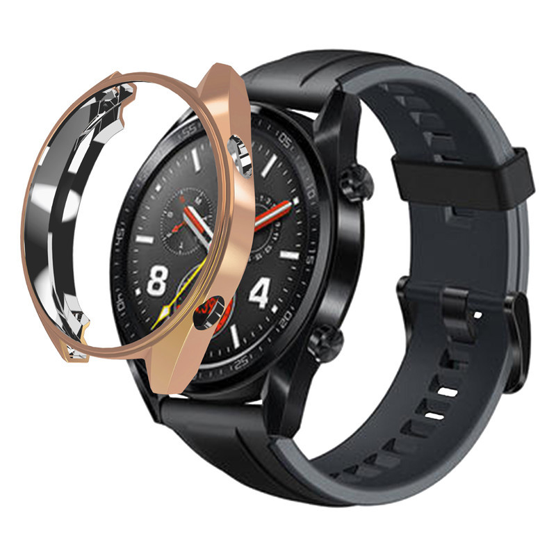 2019 New Arrival TPU Shockproof Smart Watch Case Scratchproof Cover Screen Protector For Huawei Watch GT, Black;clear;silver;gold;rose gold;gray