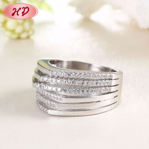 factory direct sales fashion jewelry engagement diamond wedding 14k solid light weight gold ring