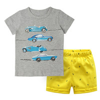 Cotton T-shirt Shorts Outfits fashion hot Baby Kids clothes 2pcs/set summer wear