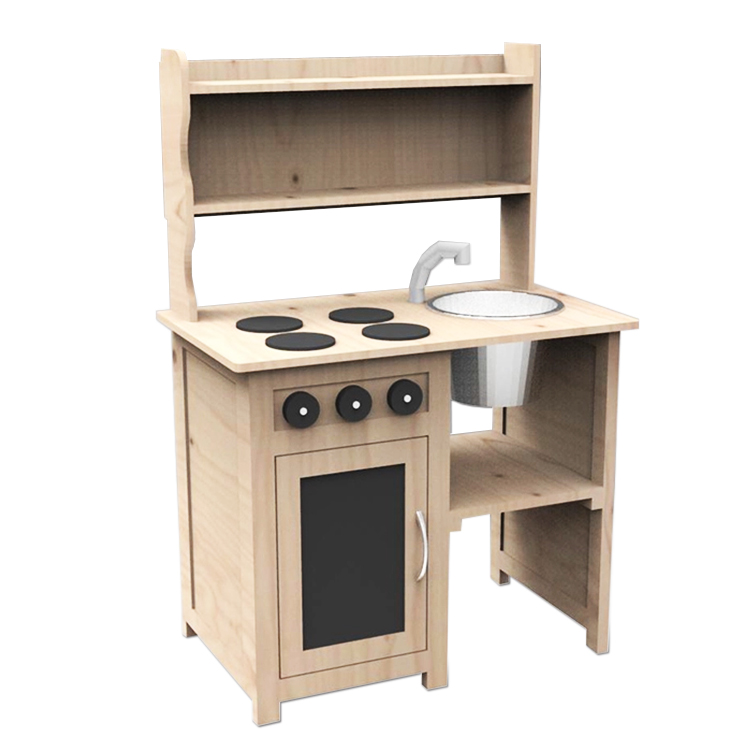 Charming Earance Design Children Eco Friendly Wood Mud Kitchen Play Toys