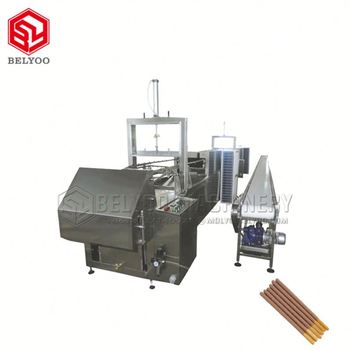 Automate Candy Biscuit Stick Dip Chocolate Machine Price Chocolate Cream Covered Biscuit Sticks Machines For Small Business