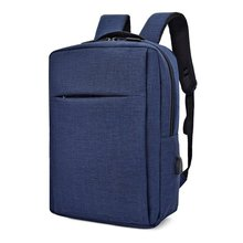 2019 Amazon hot selling model blauw 15.6 inch latop <span class=keywords><strong>rugzak</strong></span> met usb-poort opladen groothandel rugzakken china