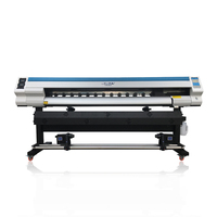 180cm high quality eco solvent printer cutter plotter with Single DX7 head