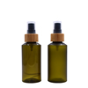plastic bamboo bottle with green color 50ml 120ml 100ml plastic spray bottle bamboo cosmetic bottle bamboo