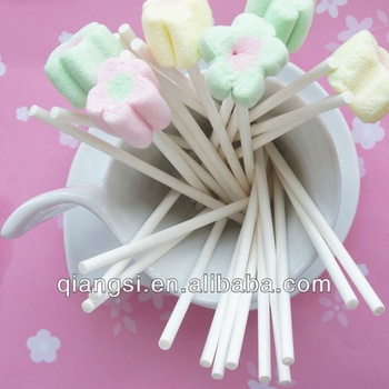 100% food grade wit papier sticks snoep floss stok