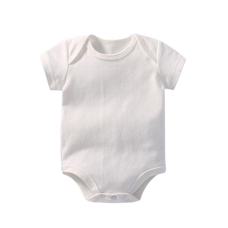 0d87baa12e1e 100% tuta del bambino del cotone organico pagliaccetto del manicotto del  bicchierino vestiti del bambino